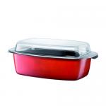 Silit Energy Red Braadslede met Deksel - 24 x 42 cm